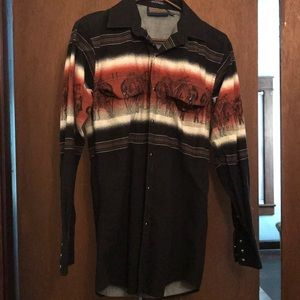 Mens Western Button-up
